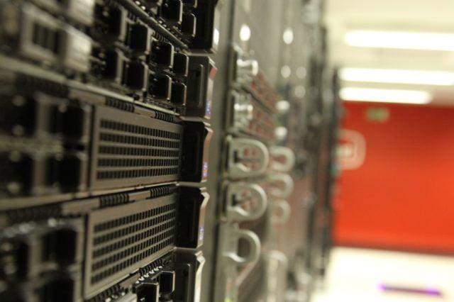 Servrar i ett datacenter