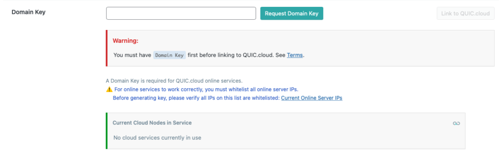 Inställningar för domännyckel i LiteSpeed Cache för WordPress